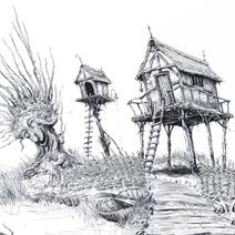 Ian Miller | Shrek: Swamp House on Stilts