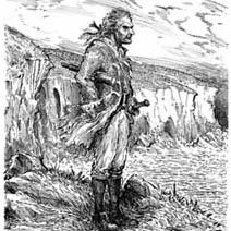 Ian Miller | Captain Bones on the cliff top near the Admiral Benbow Inn