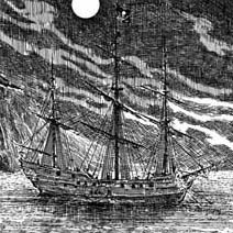 Ian Miller | Pirate Ship anchored in the Black Hill Cove