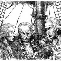 Ian Miller | Dr Livesey, Squire Trelawney and Captain Smollett