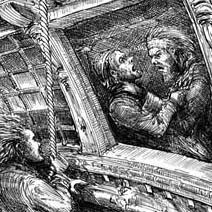 Ian Miller | Pirates fighting aboard the Hispaniola