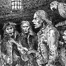 Ian Miller | Long John Silver in the blockhouse