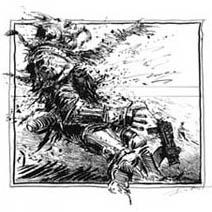 Ian Miller | Space Marine blasted