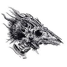 Ian Miller | GW, Realm of Chaos, character sketch 3<br> Lizard heads