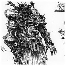Ian Miller | GW, Realm of Chaos, character sketch 5