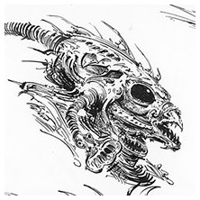 Ian Miller | GW, Realm of Chaos, character sketch 8<br> Pinchers