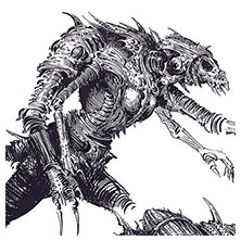 Ian Miller | GW, Realm of Chaos, character sketch 11<br> Four arms