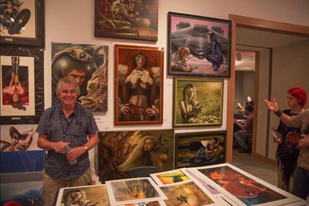 Jim Burns at art show