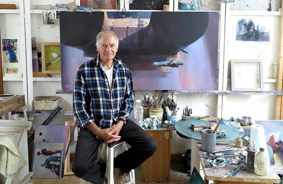 John Harris in his studio