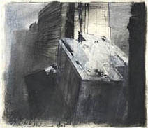 John Harris | Looking North on the Wall, first sketch