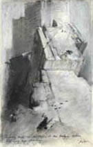 John Harris | Looking North on the Wall, second sketch