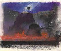 John Harris   Lava in the Caldera