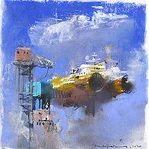 John Harris | Dockland Ferry, a study