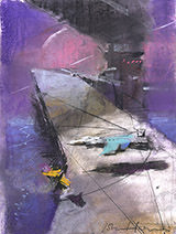 John Harris | The Last Shadow, sketch 1