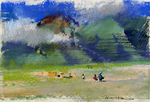 John Harris | Valley of the Incas, sketch