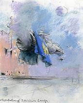 John Harris   The Repatriation of Tiberius Lanza, sketch 2