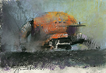 John Harris   Cleaning the Ducts, colour study