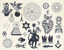 Neil Packer | Foucault's Pendulum, endpaper design