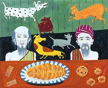 Neil Packer | Odysseus and Eumaeus prepared their breakfast