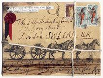 Olivia Lomenech Gill   War Horse envelope from India