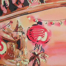 Paul Cox | Caribbean hotel, with detail