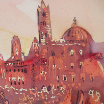 Paul Cox | The Palio di Siena, with detail