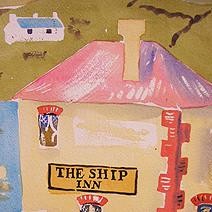 Paul Cox | Harbour Cafe, after Julian Trevelyan