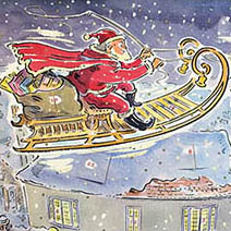 Paul Cox   Father Christmas advent calendar