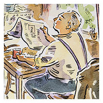 Paul Cox | Roger and his morning paper from 'Just Good Friends'