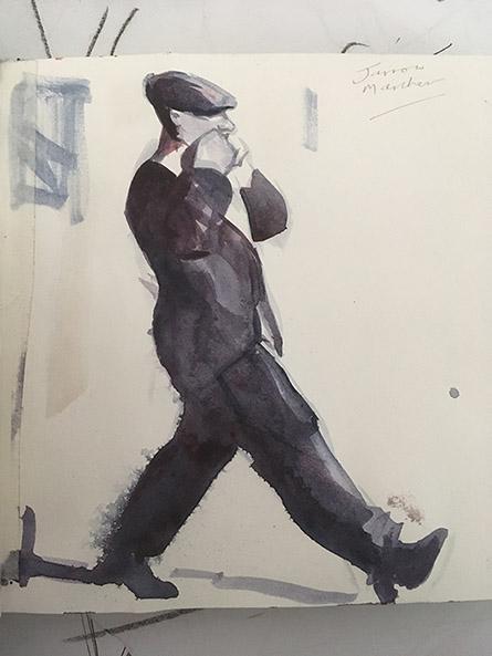 Walking man artwork