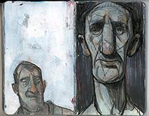 Simon Bartram | Monday Man in charcoal