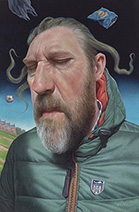 Simon Bartram   Semi Self-portrait in Windy England